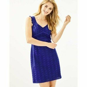 Lilly Pulitzer Blue Eyelet Kaylee Shift Dress